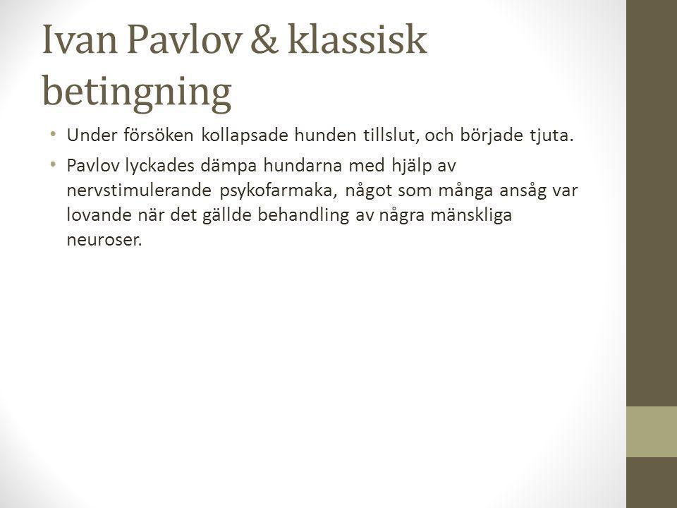 Ivan Pavlov & klassisk betingning