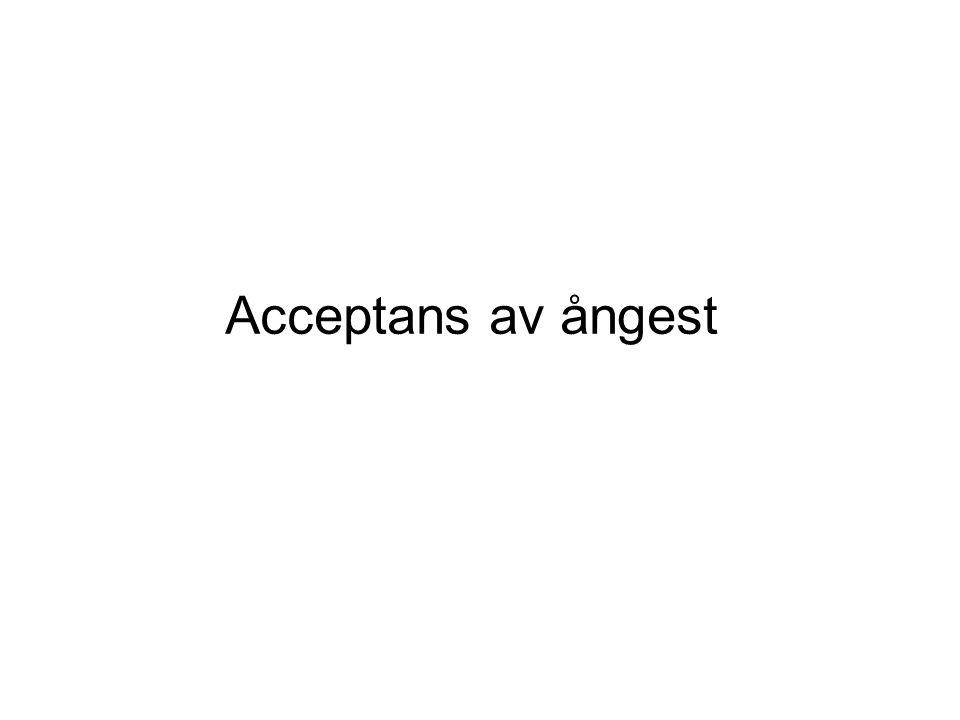 Acceptans av ångest