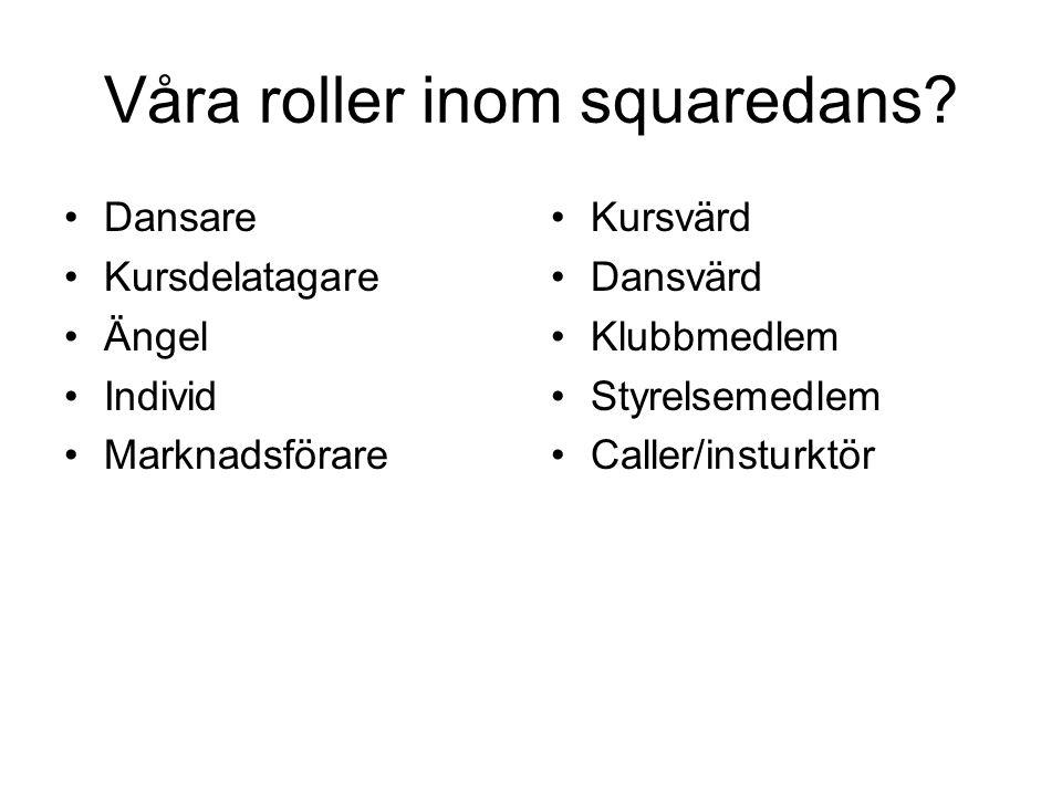 Våra roller inom squaredans