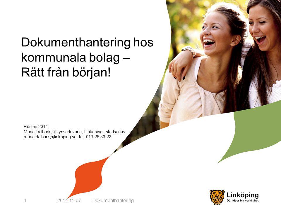 Dokumenthantering hos kommunala bolag – Rätt från början!