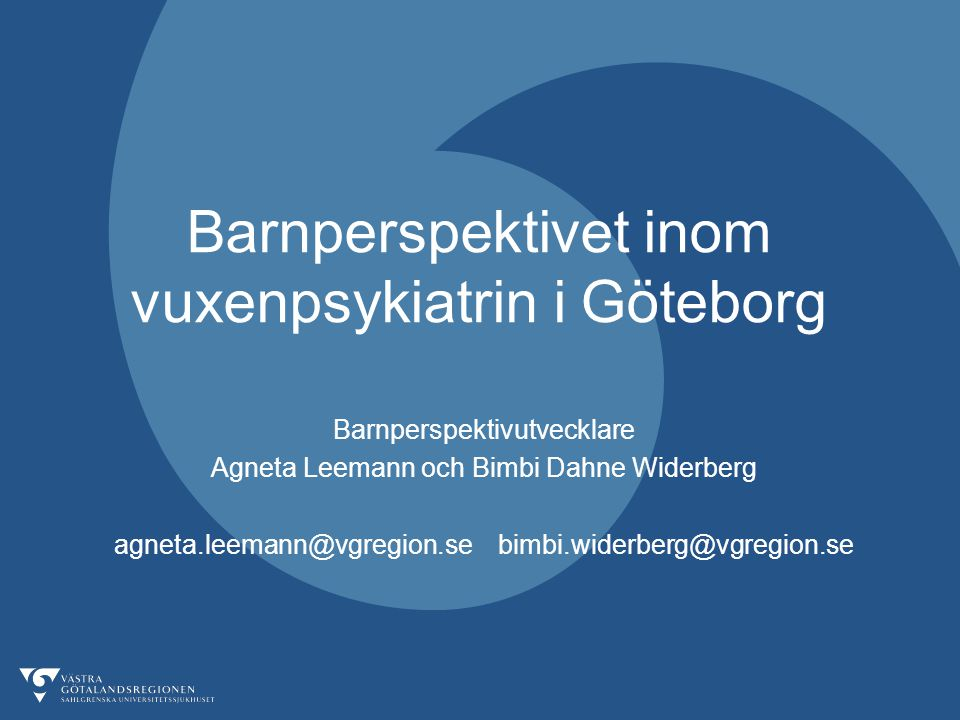 Barnperspektivet inom vuxenpsykiatrin i Göteborg