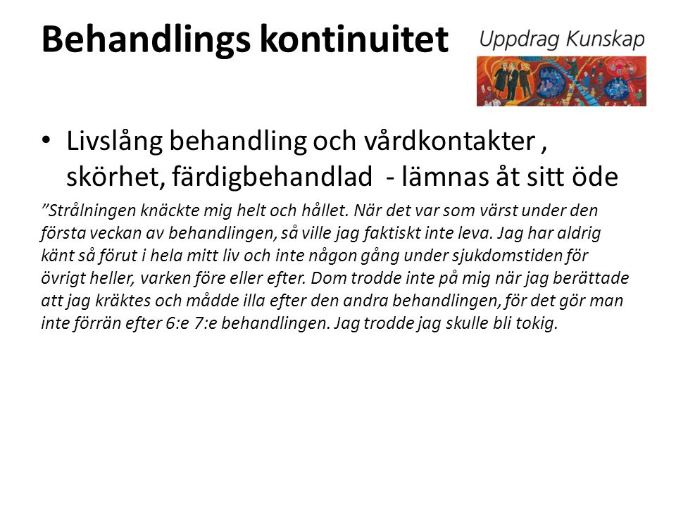 Behandlings kontinuitet