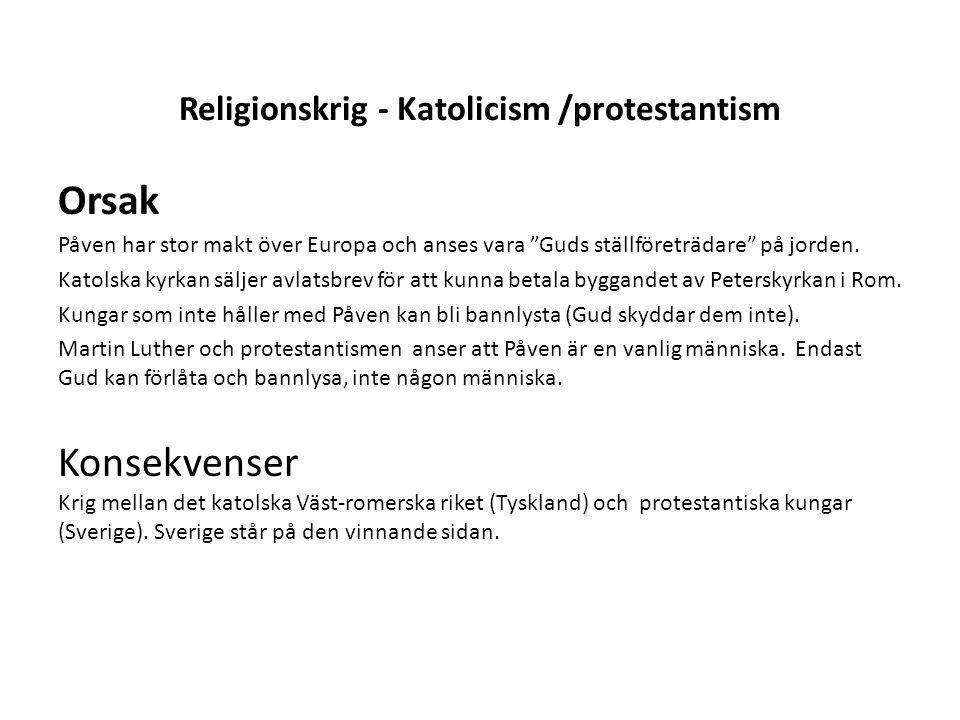 Religionskrig - Katolicism /protestantism
