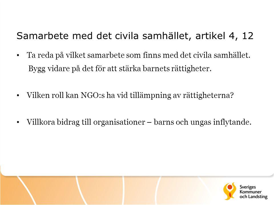 Samarbete med det civila samhället, artikel 4, 12