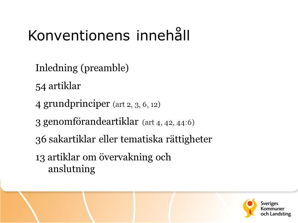 Konventionens innehåll