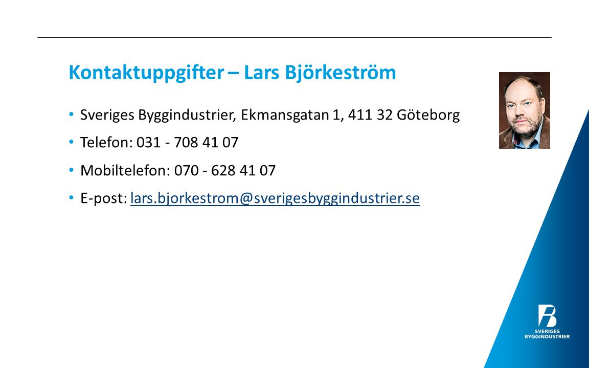 Kontaktuppgifter – Lars Björkeström