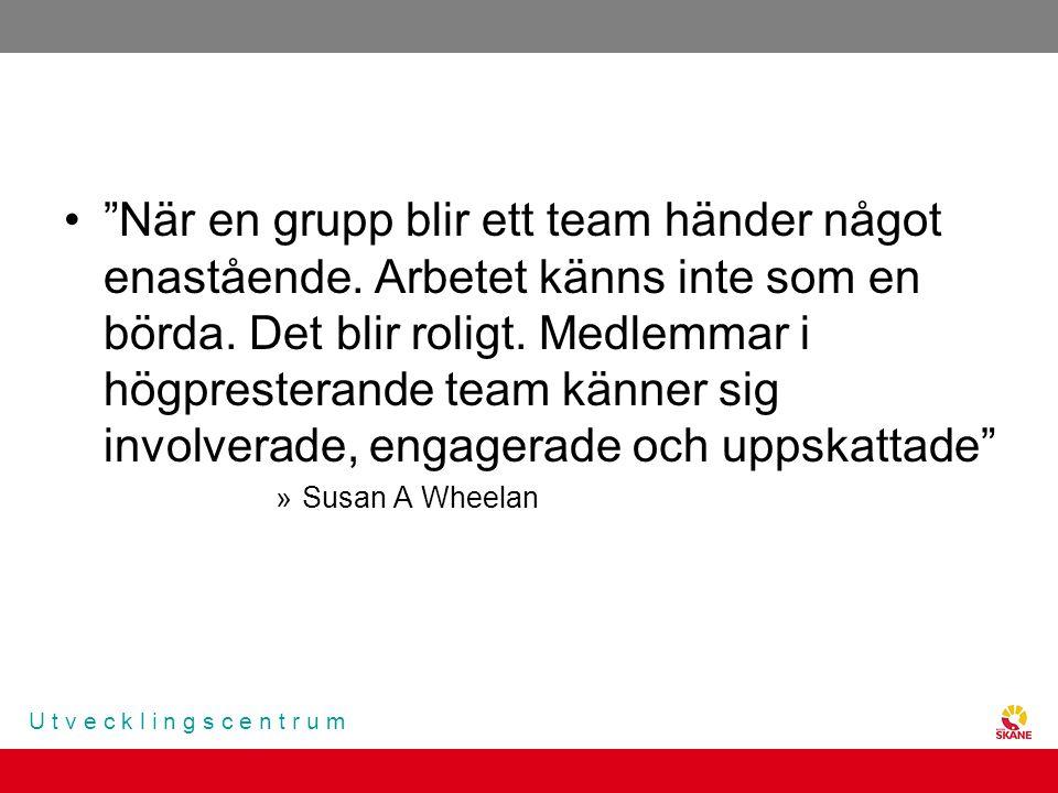 När en grupp blir ett team händer något enastående