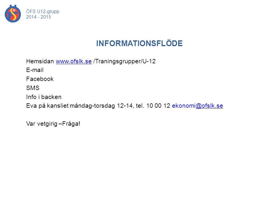 ÖFS U12-grupp 2014 - 2015. INFORMATIONSFLÖDE.