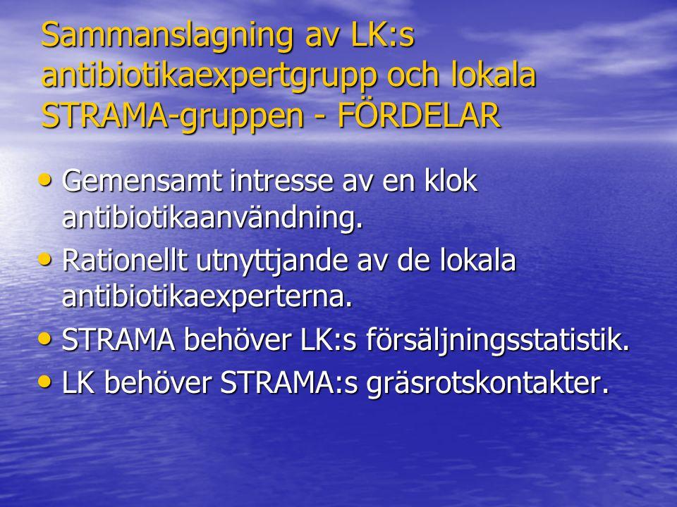 Sammanslagning av LK:s antibiotikaexpertgrupp och lokala STRAMA-gruppen - FÖRDELAR
