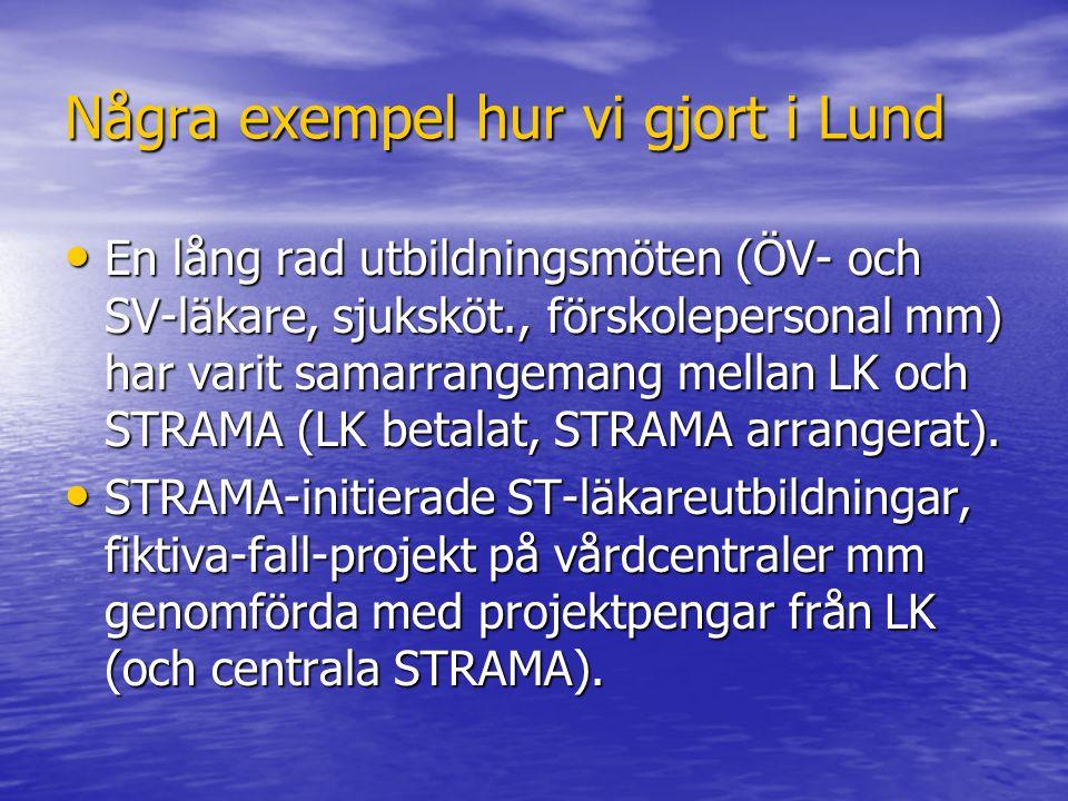 Några exempel hur vi gjort i Lund