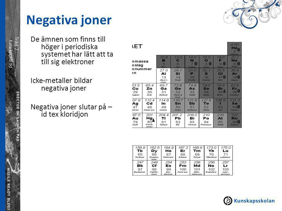Negativa joner