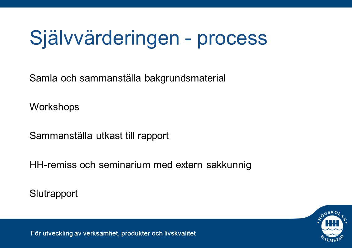 Självvärderingen - process