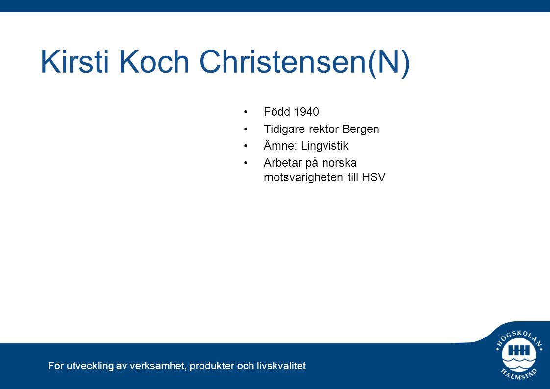 Kirsti Koch Christensen(N)