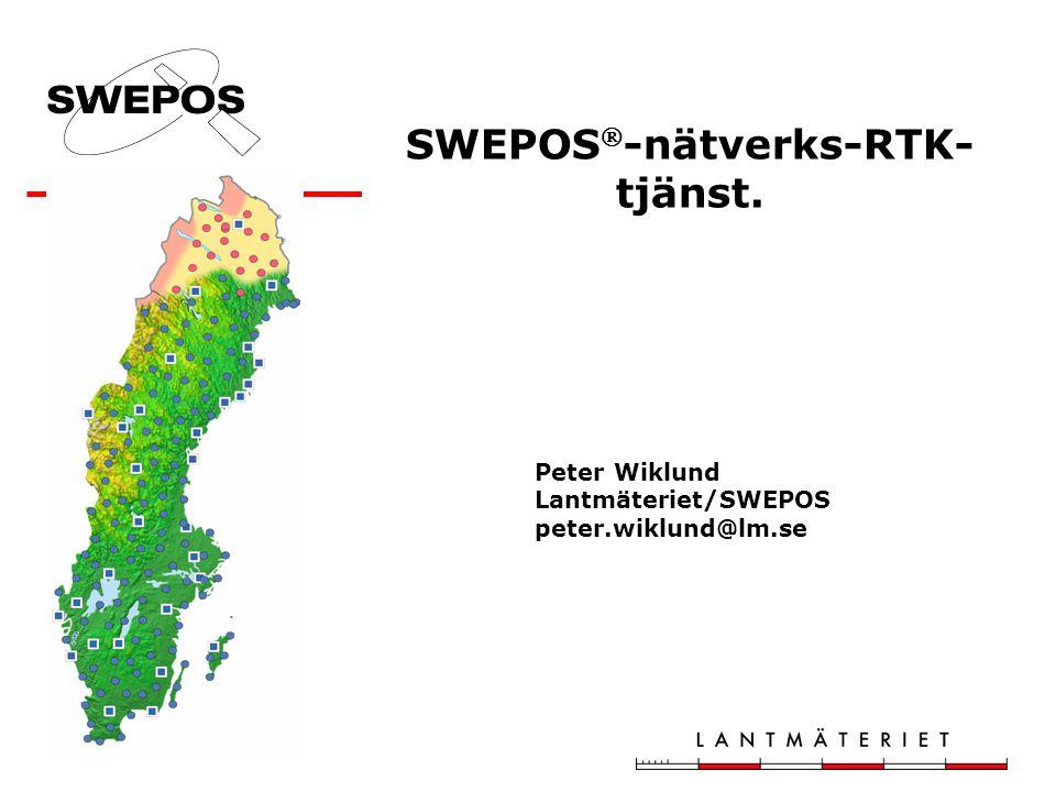 SWEPOS-nätverks-RTK-tjänst.