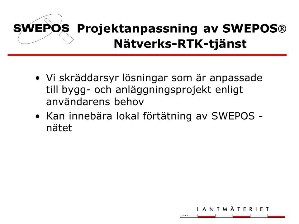 Projektanpassning av SWEPOS Nätverks-RTK-tjänst