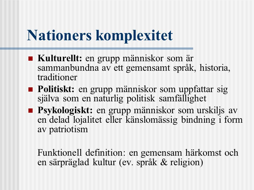 Nationers komplexitet