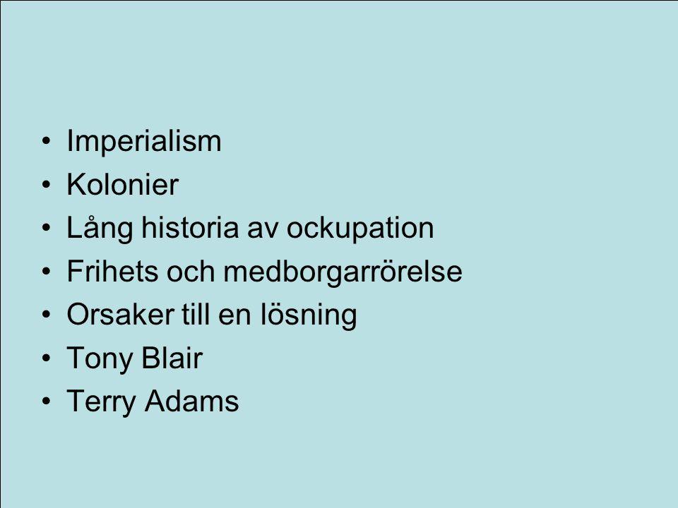 Lång historia av ockupation Frihets och medborgarrörelse