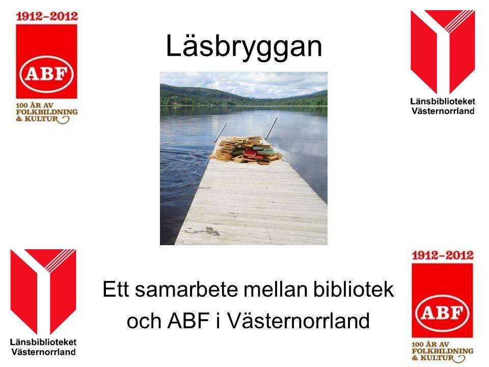 Ett samarbete mellan bibliotek och ABF i Västernorrland