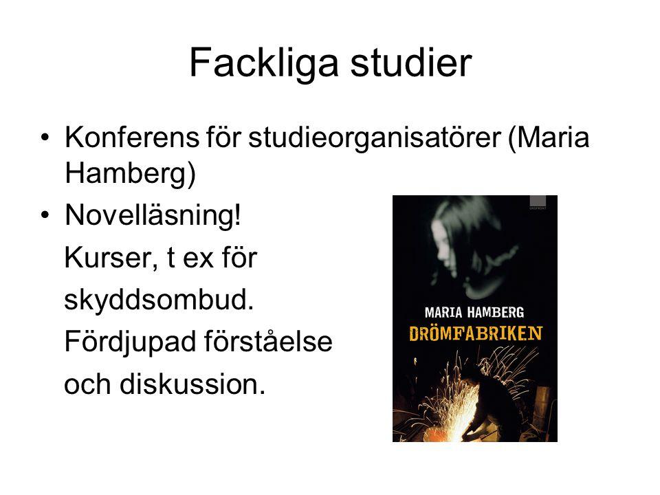Fackliga studier Konferens för studieorganisatörer (Maria Hamberg)