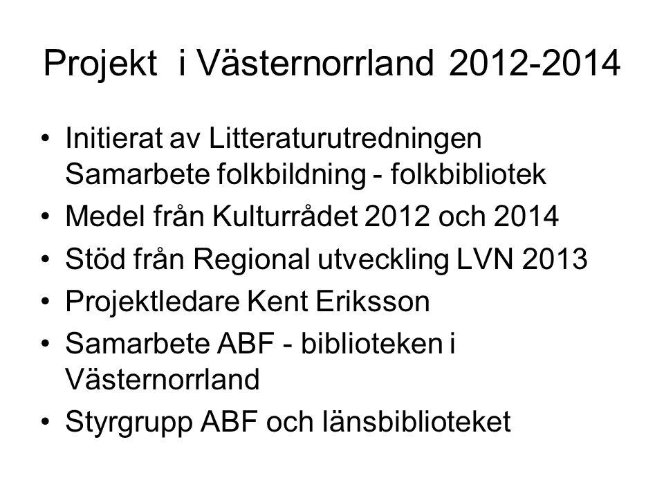 Projekt i Västernorrland 2012-2014