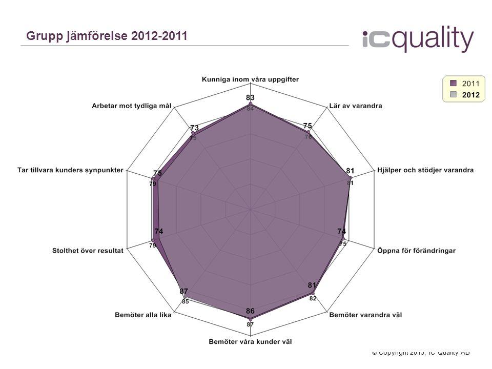 Grupp jämförelse 2012-2011