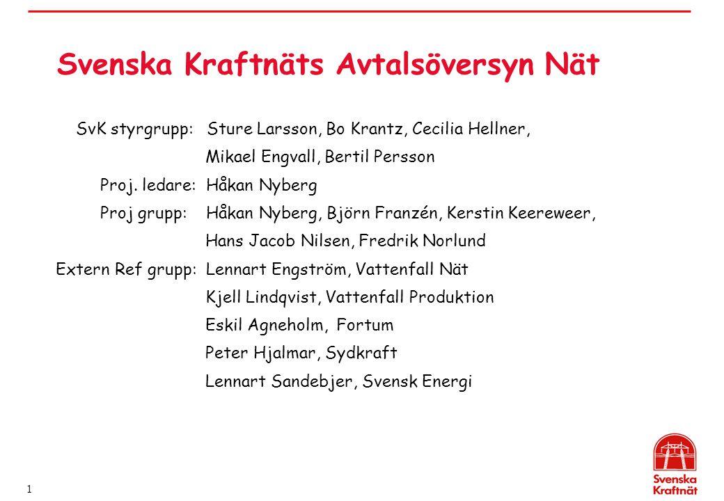 Svenska Kraftnäts Avtalsöversyn Nät