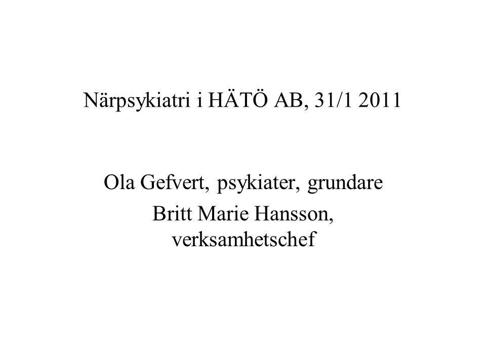 Närpsykiatri i HÄTÖ AB, 31/1 2011