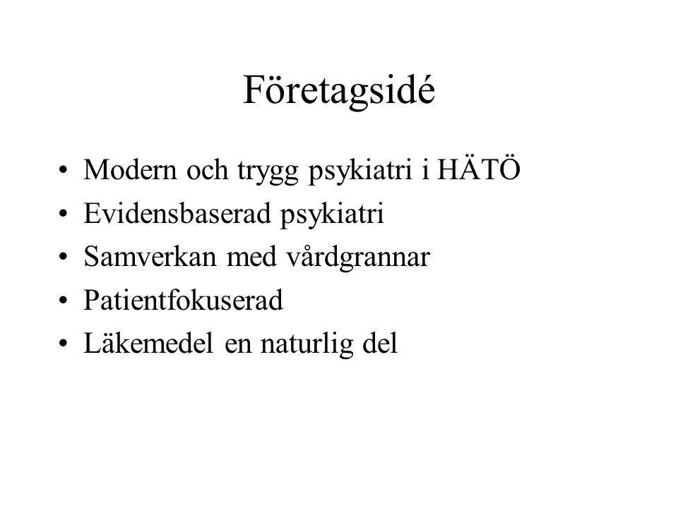 Företagsidé Modern och trygg psykiatri i HÄTÖ Evidensbaserad psykiatri
