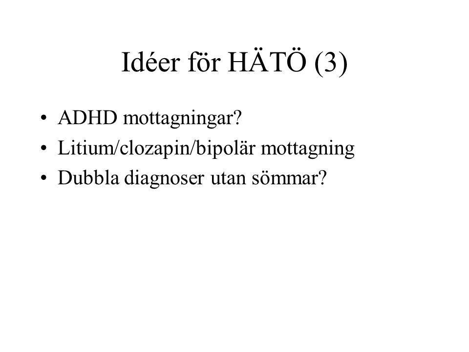Idéer för HÄTÖ (3) ADHD mottagningar