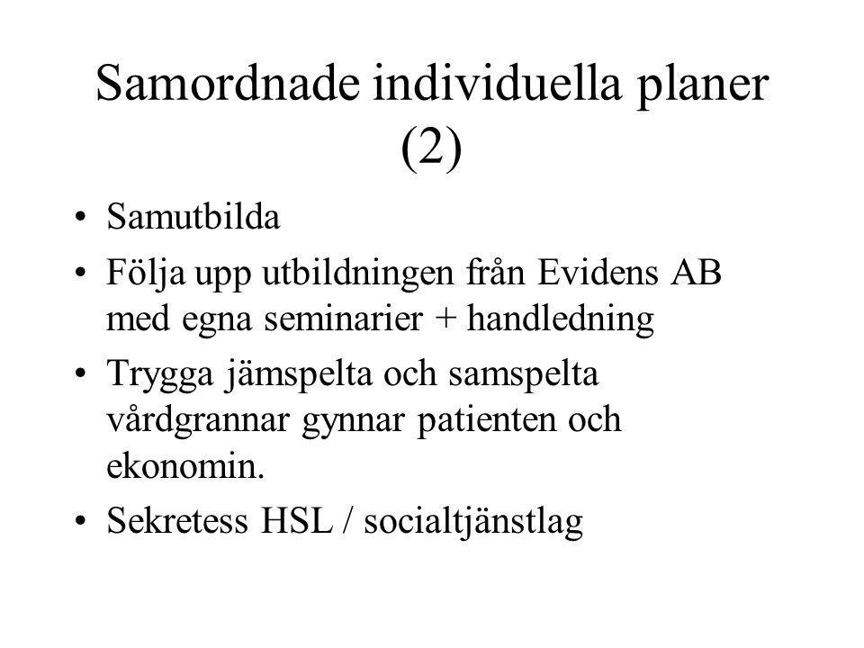 Samordnade individuella planer (2)