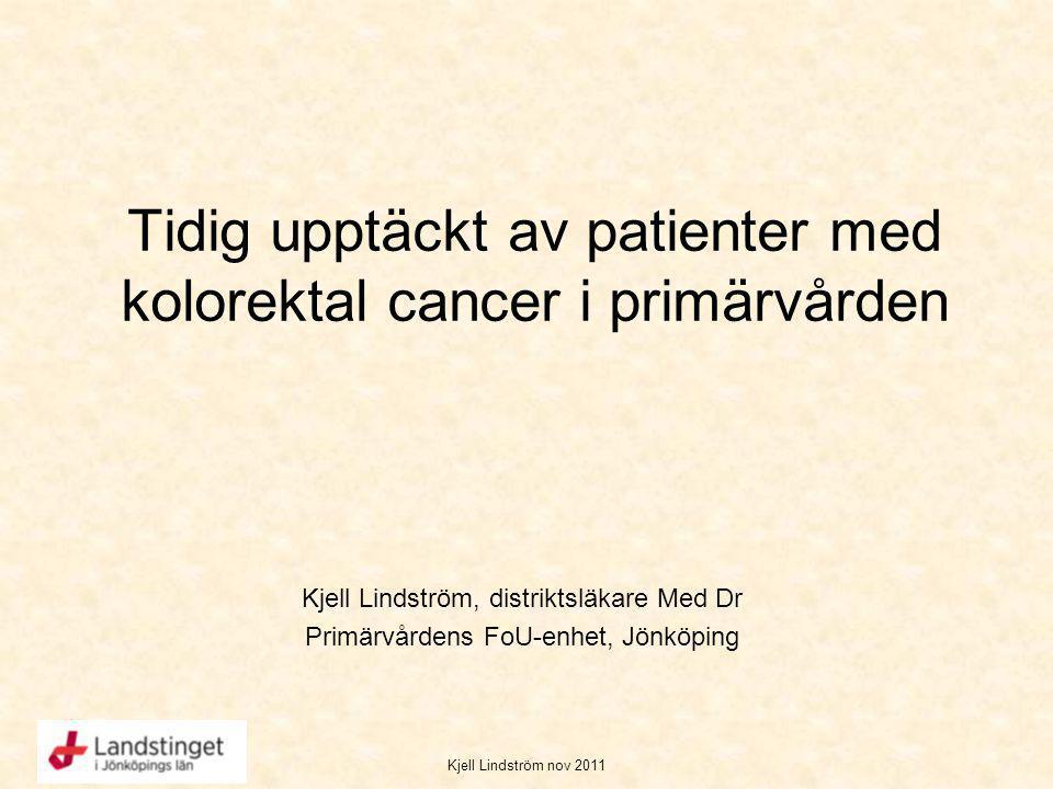 Tidig upptäckt av patienter med kolorektal cancer i primärvården