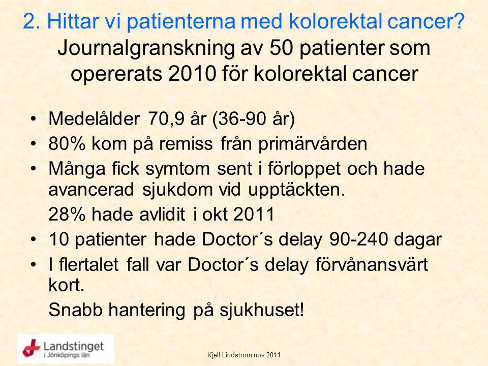 2. Hittar vi patienterna med kolorektal cancer