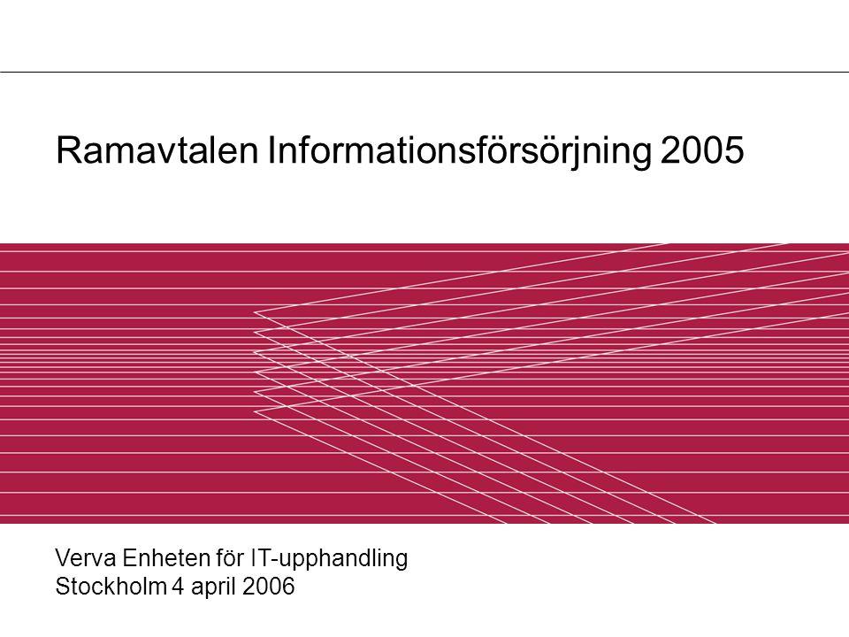 Ramavtalen Informationsförsörjning 2005