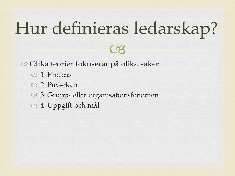 Hur definieras ledarskap