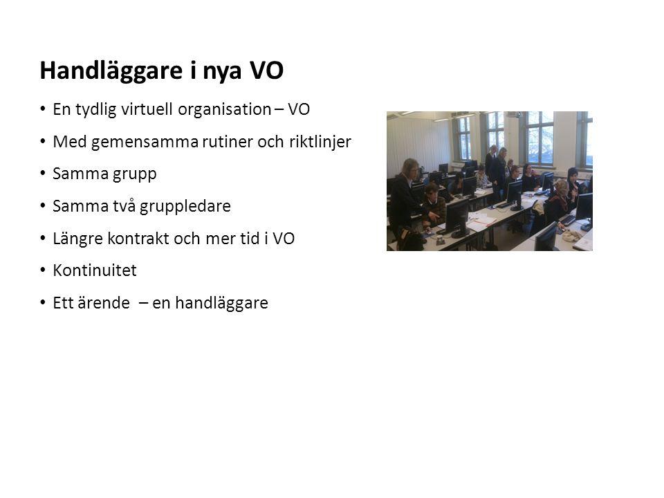 Handläggare i nya VO En tydlig virtuell organisation – VO