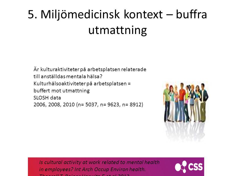 5. Miljömedicinsk kontext – buffra utmattning