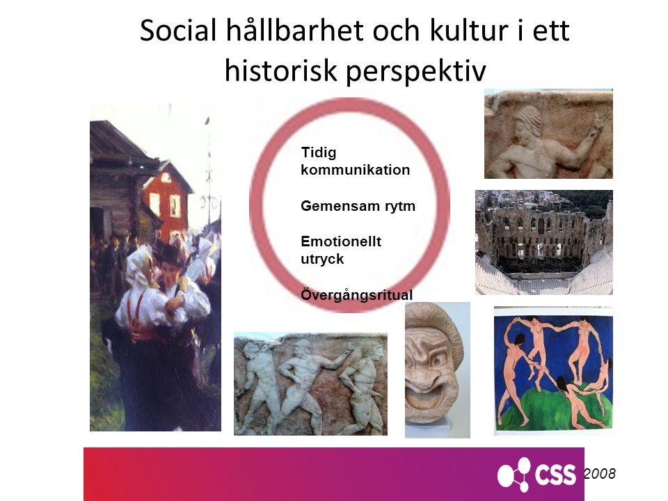 Social hållbarhet och kultur i ett historisk perspektiv