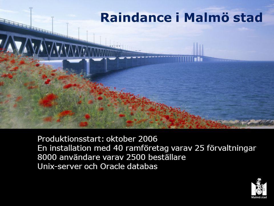 Raindance i Malmö stad Produktionsstart: oktober 2006