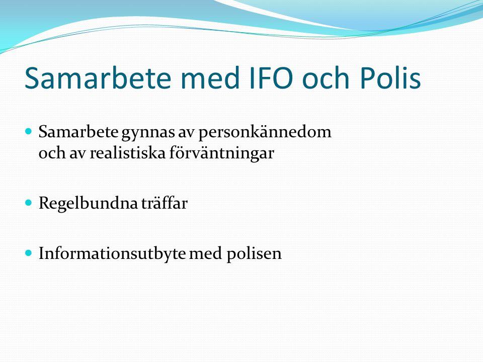 Samarbete med IFO och Polis