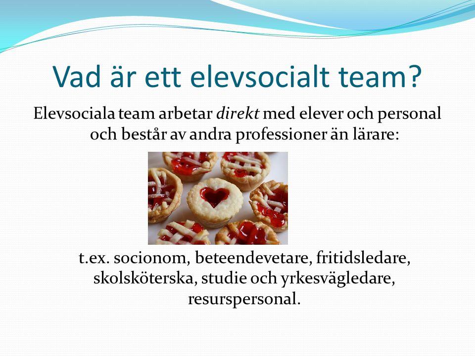 Vad är ett elevsocialt team