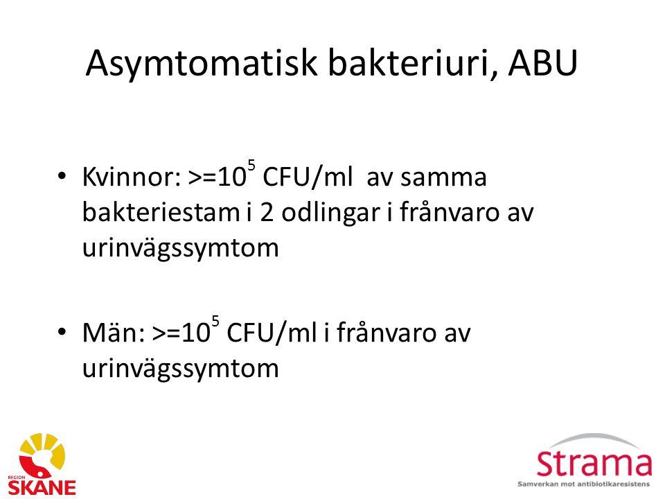 Asymtomatisk bakteriuri, ABU