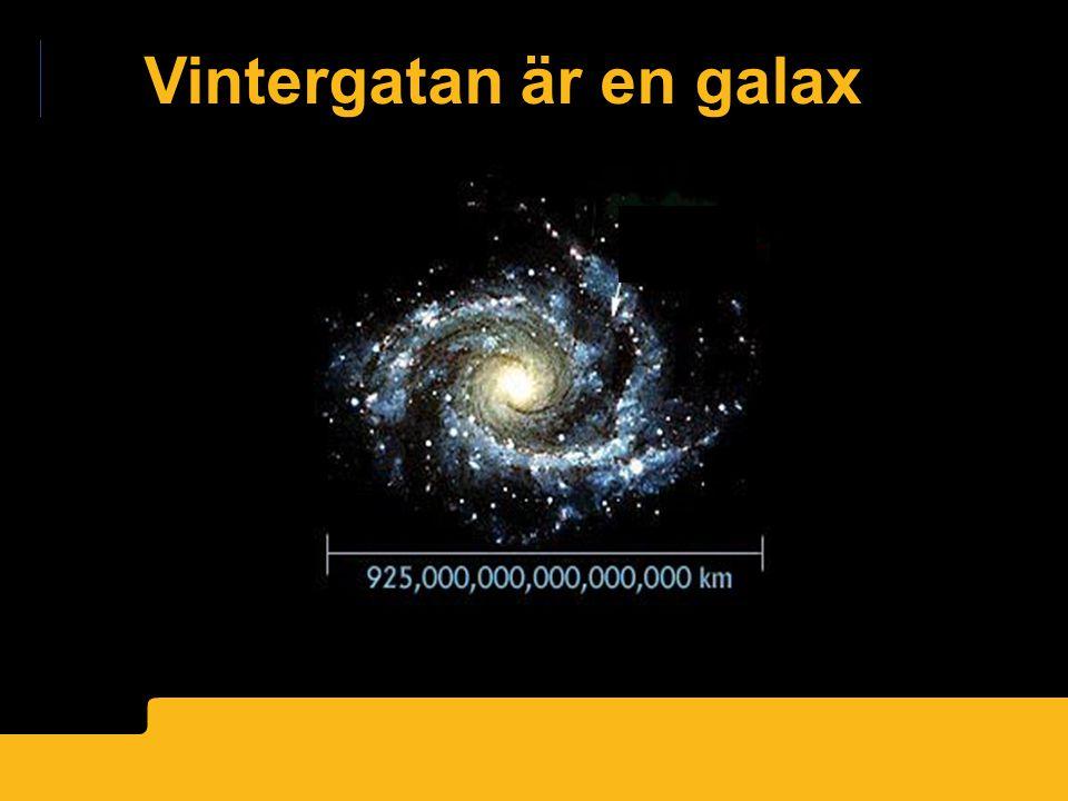 Vintergatan är en galax