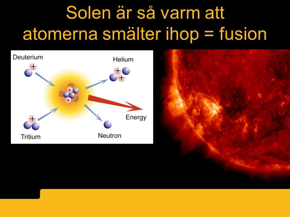 atomerna smälter ihop = fusion