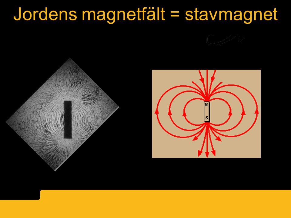 Jordens magnetfält = stavmagnet