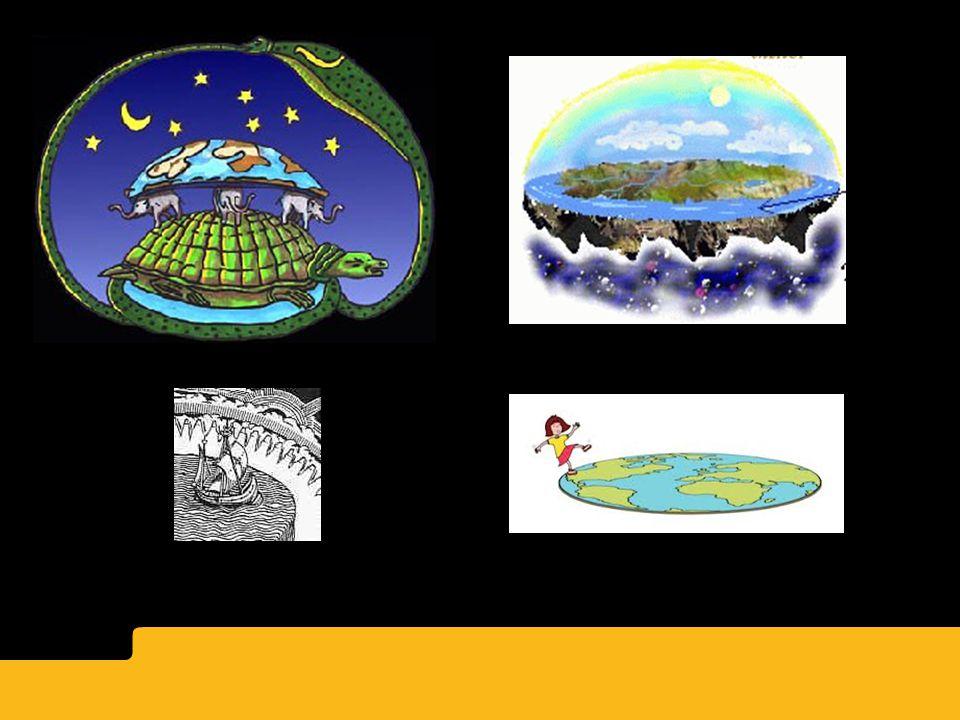 -Någonting måste hålla uppe jorden: hindu, kinesiska och indianska myter förslår en jättesköldpadda håller jorden upprätt.