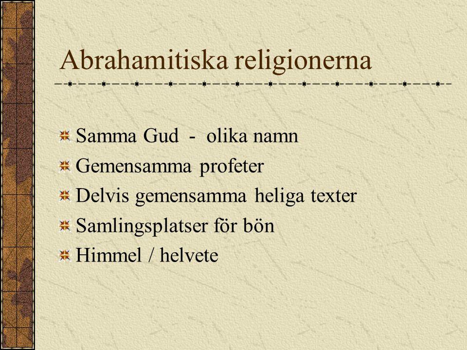 Abrahamitiska religionerna