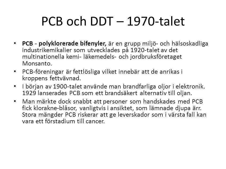PCB och DDT – 1970-talet