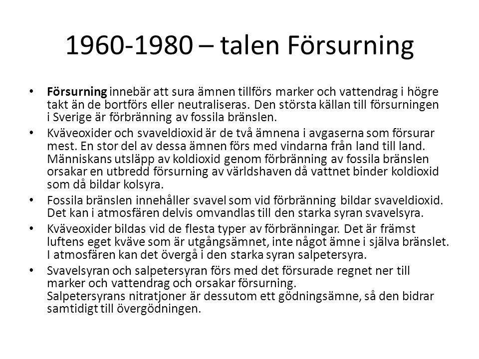 1960-1980 – talen Försurning