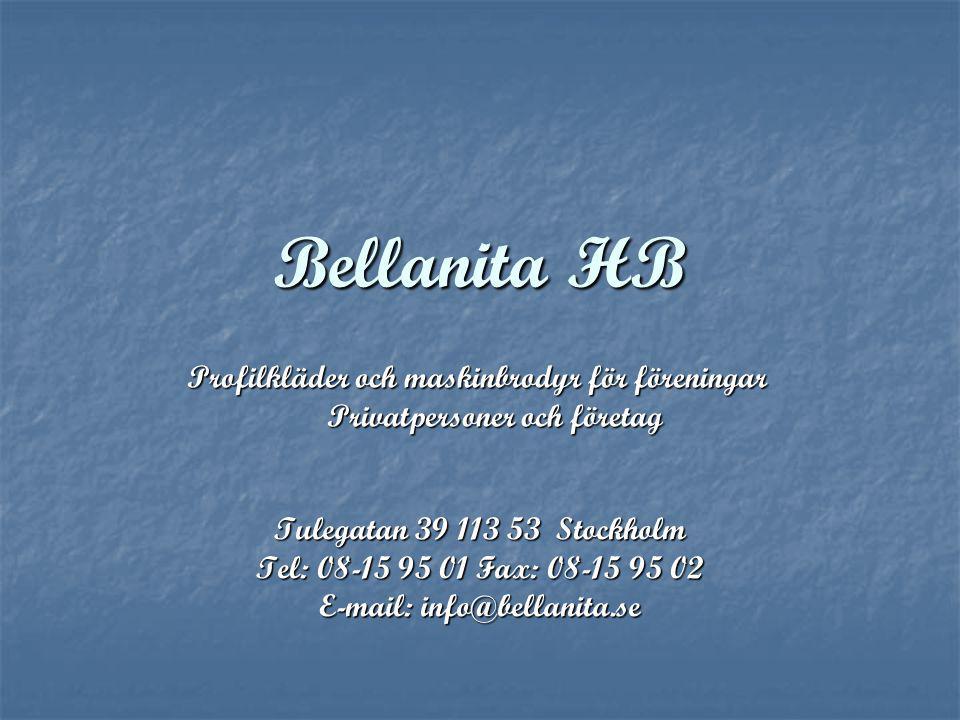 Bellanita HB Profilkläder och maskinbrodyr för föreningar
