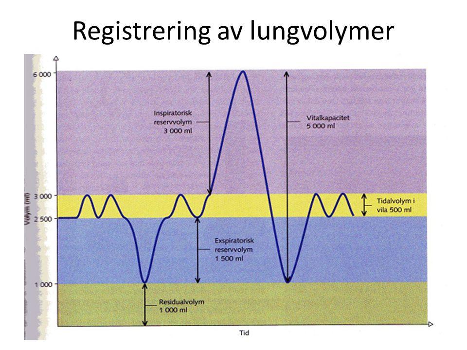 Registrering av lungvolymer